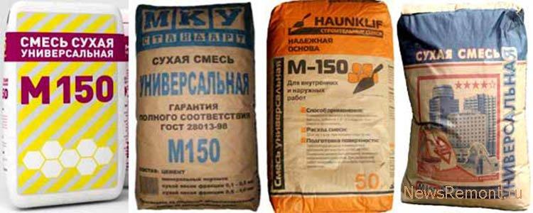 цементно песчаная смесь для стяжки пола расход